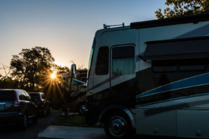 RV parked at a RV park