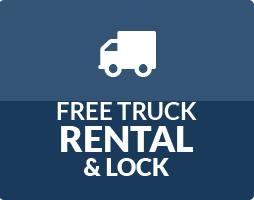 Storage World Free Truck Rental & Lock Button
