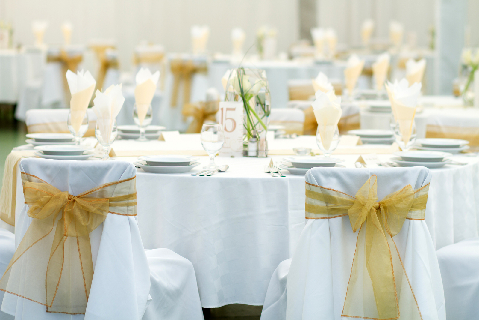 Restaurant or Catering Center with Chairs and Items for Storage