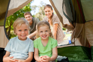 A family enjoys camping near Atlanta, GA