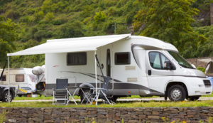 A RV on camping trip
