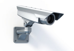 A security camera monitoring